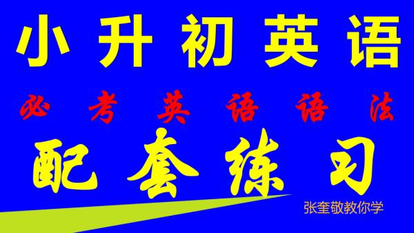 小升初名校必考英语语法配套练习册-全册-张奎敬教小升初