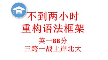 2021洪宇同学的应试极简语法课--五节课突破考研英语