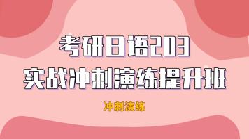 2022年考研日语203实战冲刺演练提升班