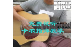 卡农吉他教学视频 单音版和独奏版 指弹教程 可试听在线课程
