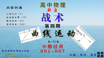 题海-曲线运动-小船过河问题001-007|高中物理|高考物理