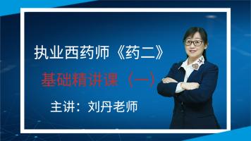 2020执业西药师《药二》基础精讲课(一)