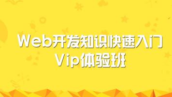 Web开发知识快速入门Vip体验班