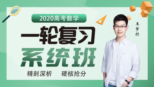 2020高考数学一轮复习系统班 sugar 王梦抒