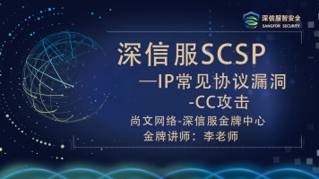 深信服网络安全SCSA/SCSP-IP常见协议漏洞/信息安全/网络安全
