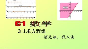出国留学K12课程A-Level数学考试 方程组 消元法代入法