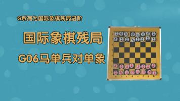 国际象棋残局之G06马单兵对单象