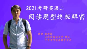 考研英语二阅读题型终极解密-2021管理类联考-研定教育韩健