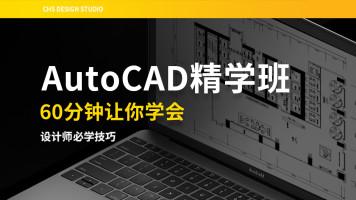 AutoCAD精学班/60分钟学会/基础入门/平面布局/户型优化