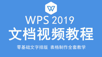 WPS2019文档视频教程 Word文字排版表格制作全套教学