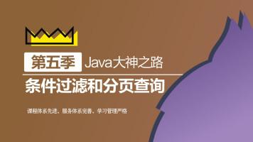 Java大神之路(第五季  条件过滤和分页查询)