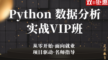 Python数据分析实战VIP班