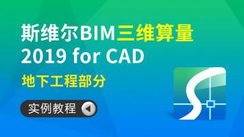 斯维尔 BIM 三维算量 2019 for CAD实例教程—地下工程部分