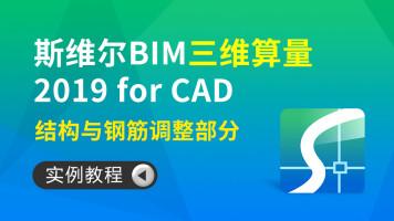 斯维尔 BIM 三维算量 2019 for CAD实例教程—结构与钢筋调整部分