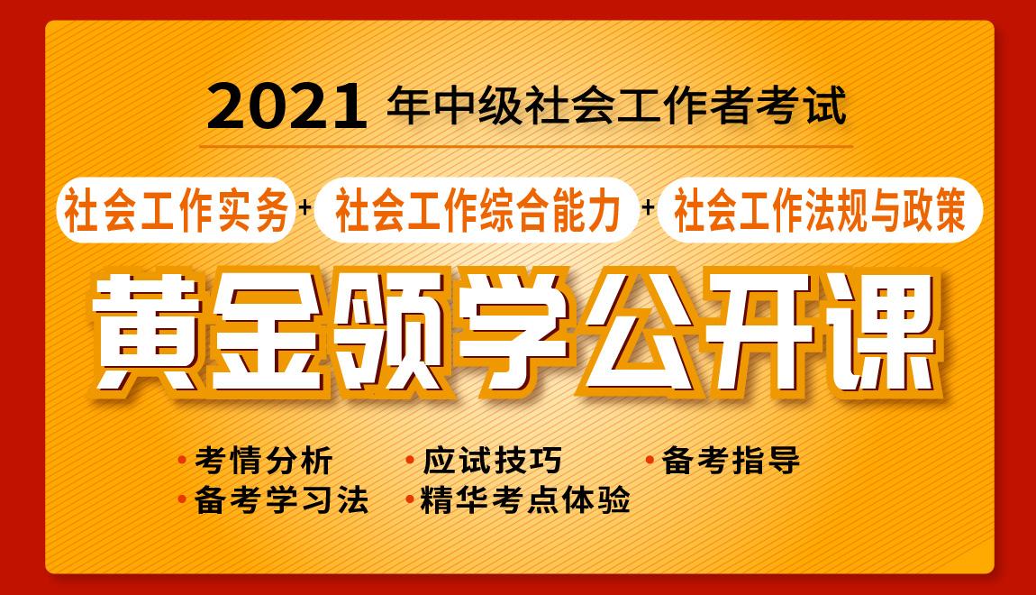 2021年中级社会工作师考试黄金领学公开课 社会工作实务