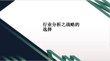 初级决策会计师—行业分析第六课