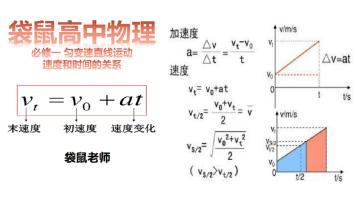 【袋鼠高中物理】必修一 匀变速直线运动  速度和时间的关系
