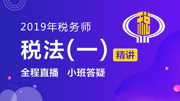 2019年税务师-税法(一)精讲班