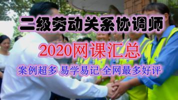 2021二级劳动关系协调师冯老师网课汇总