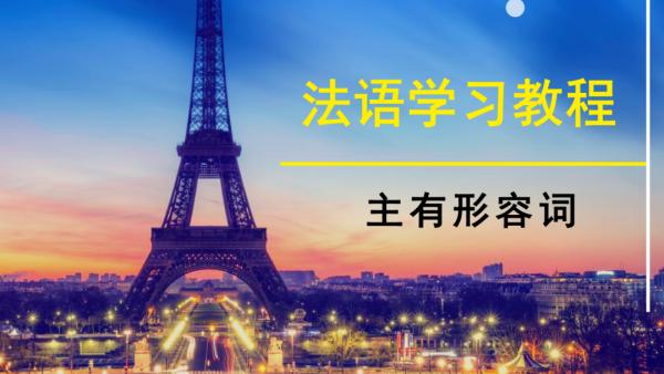 欧亚外语:法语学习教程—主有形容词