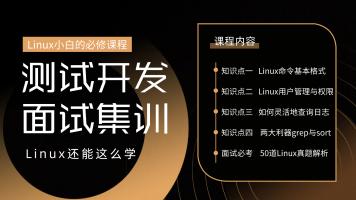 测试开发面试集训营--Linux命令实战