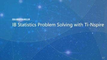 IB Statistics Problem Solving with Ti-Nspire