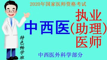 2020年医师资格考试中西医执业(助理)医师之中西医外科学部分