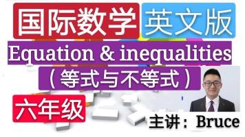 【精品课】六年级小学国际英文数学(等式与不等式)