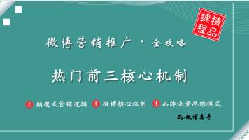 玩转微博营销推广:微博热门前三内容篇
