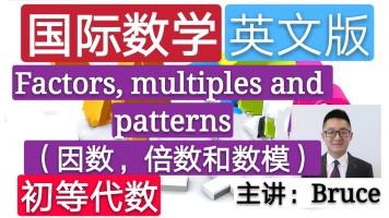 【精品课】小学国际数学英文版(初等代数)(因数,倍数和数模)