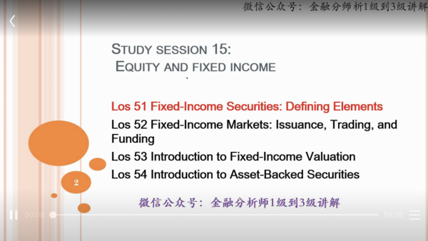 CFA 1 Fixed-income
