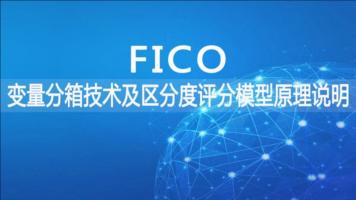 FICO变量分箱技术及区分度评分模型原理说明