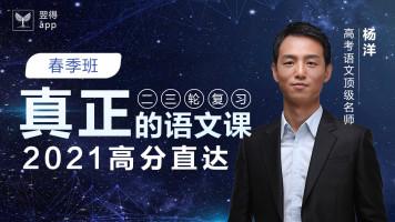 2021杨洋高考语文春季练习班