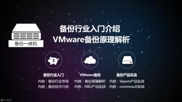 备份行业入门和VMware备份原理解析及NBU等产品实战