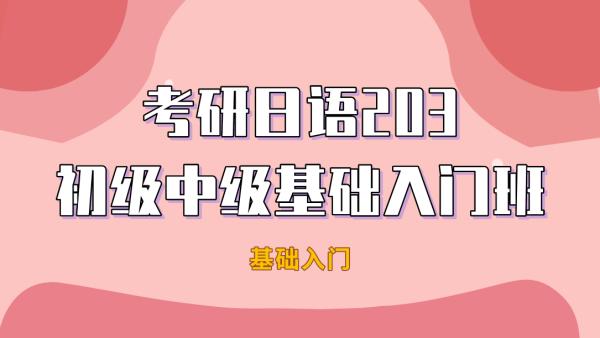 2022年考研日语203初级中级基础入门班