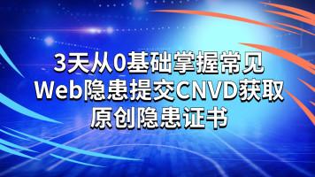3天0基础安全小白到掌握常见Web隐患并提交CNVD获取原创隐患证书
