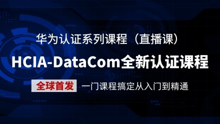 【HCIA】华为认证-DataCom数据通信技术认证-最新技术全球首发