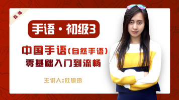 【H班】初级三(10课)   零基础中国手语(自然手语)系统学习