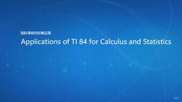 Applications of TI 84 for Calculus and Statistics