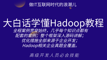 200集大白话学懂Hadoop教程