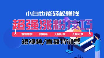 短视频/直播特训营【超强涨粉技巧】