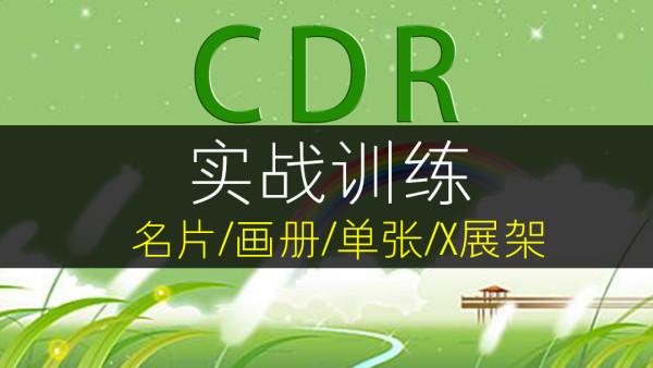 CDR平面设计【字体  插画  LOGO  名片  海报  画册】[后50节]