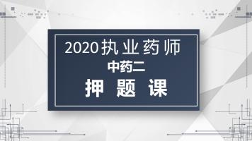 2020执业药师中药二押题课