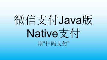 """微信支付Java版Native支付_原""""扫码支付"""""""