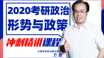 20考研政治-形势与政策【冲刺精讲】-文都考研-万磊