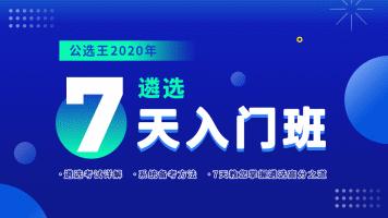 公选王2020年遴选7天入门班