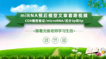 miRNA预后模型文章套路视频(COX模型验证/microRNA/区分3p和5p)
