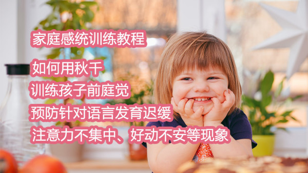 家庭感统训练课程训练孩子前庭觉视频教程预防针对语言发育迟缓