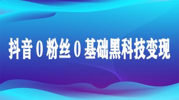 抖音万元户0基础速成学习班级(私人订制)