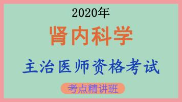 [中级职称]【临床内科】2020年肾内科学主治医师考点精讲课